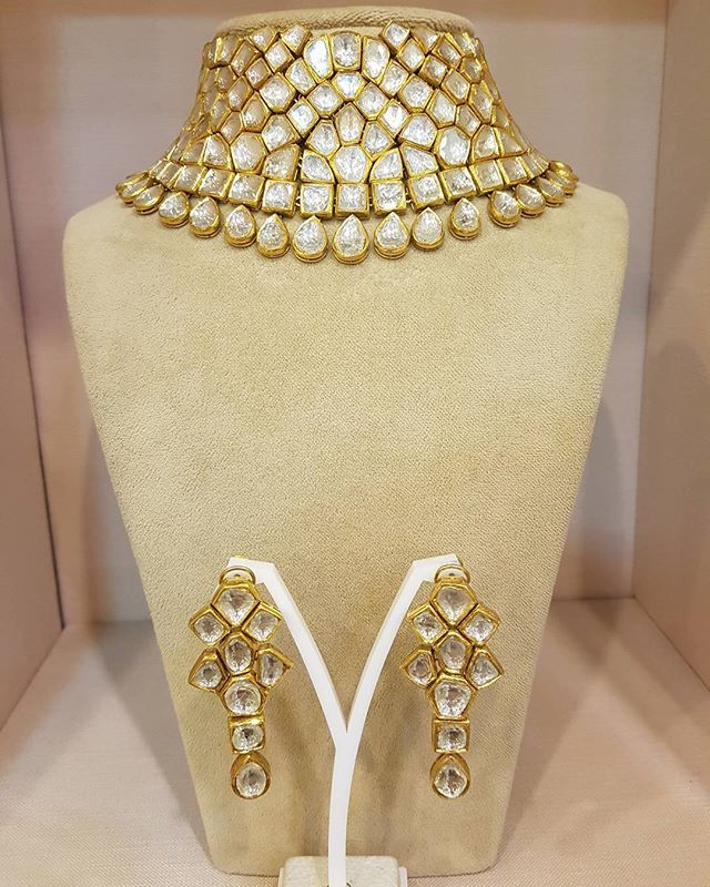 Are you ready to be #thejaipurgemsbride!  #polki #jewellery #timelesstreasures…