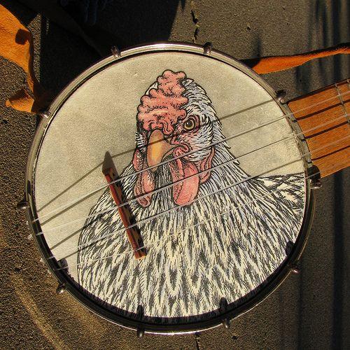 Custom Painted Banjo Heads