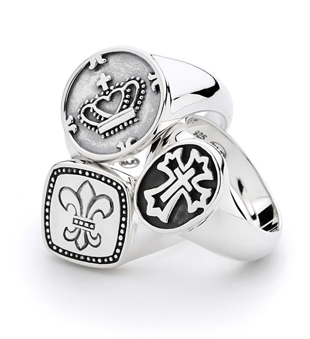 NAJO Silver Medalion Rings from the 'Alegria' collection