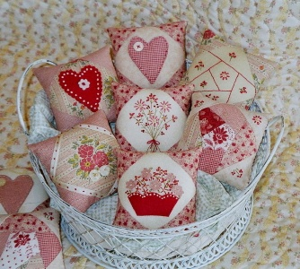 sweet little pincushions How she made a cutting table and redo her sewing room