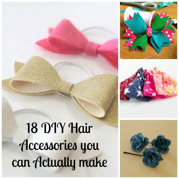 18 DIY Hair Accessories you can Actually Make | How Does She
