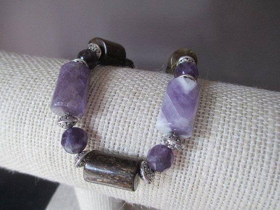 Sale  Handmade Bracelet Perfect  Purple by MagellansBellyStudio