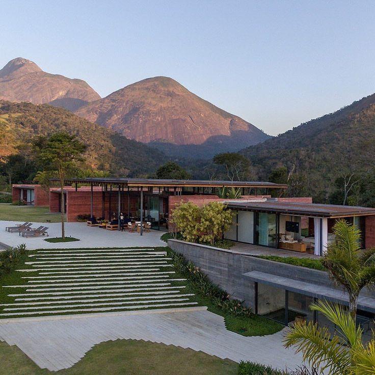 Elegant landscape solution to sloped lot