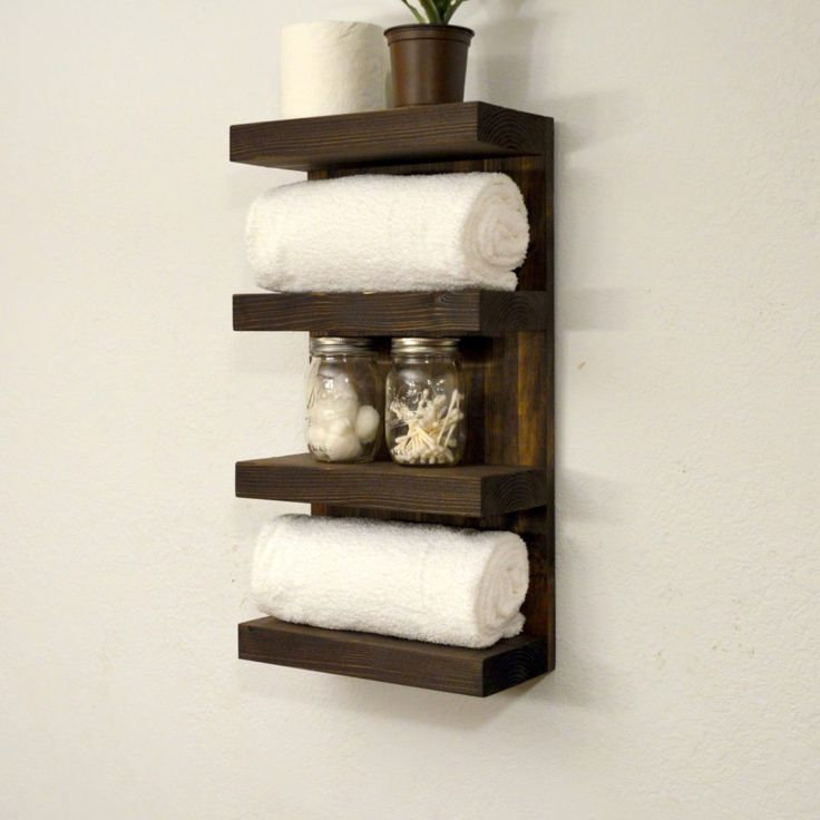 Fesselnd Bathroom Towel Rack 4 Tier Bath Storage By RusticModernDecor