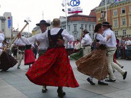 """""""The Zagreb Folk Festival in July is a five-day extravaganza drawing huge crowds and mirrored on a smaller scale across much of Slavonia."""" Croatia: the Bradt Guide; www.bradtguides.com"""