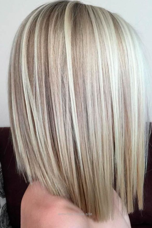 Medium Length Straight Blonde Bob Hair Styles Medium Hair Styles Medium Length Hair Styles