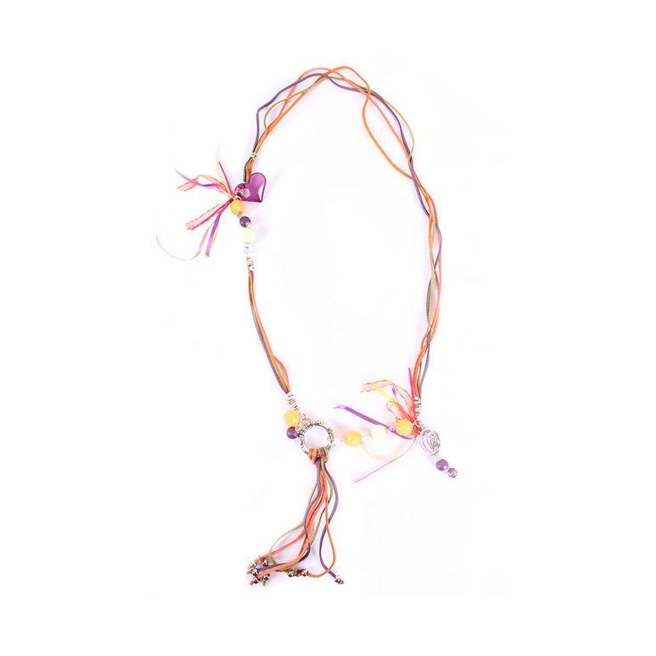 Collar Cuero Multicolor, MCN Joyas, $7.600.