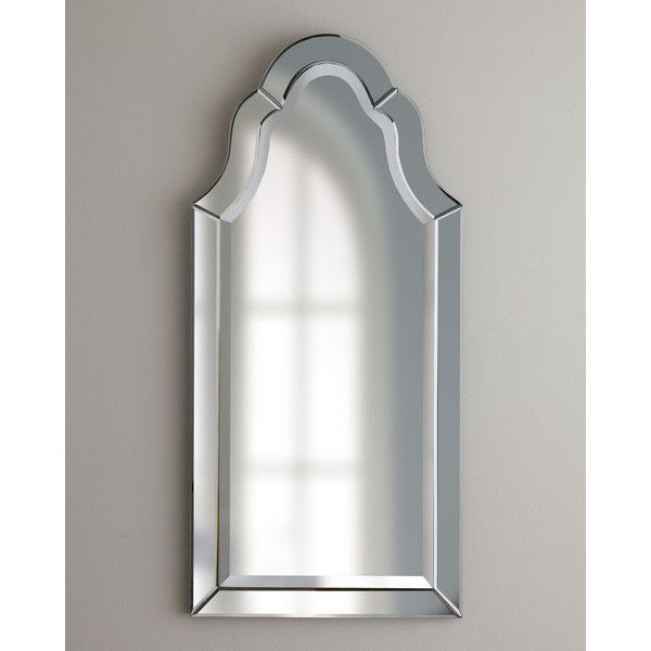 Hovan Mirror (£235) ❤ liked on Polyvore featuring home, home decor, mirrors, handmade home decor, handmade mirror, arch mirror, frameless mirror and beveled mirror
