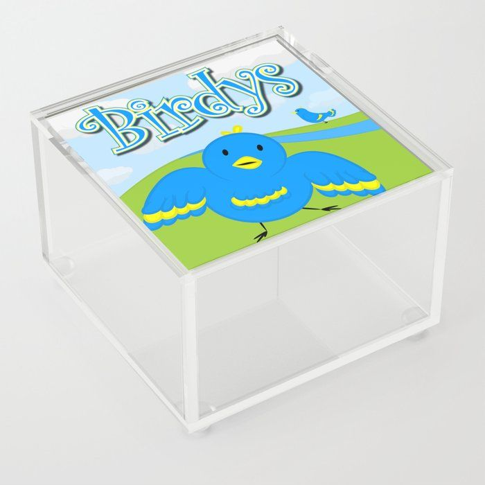 Download Birdy S Acrylic Box By Mockup Society6 Birds Birdys Children Cute Blue Yellow Clouds Two Kids Family Blue Acrylic Box Acrylic Good Advice For Life
