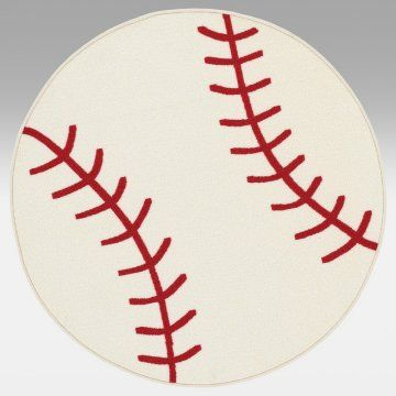 2499 Possible Baby Boy Baseball Room Rug