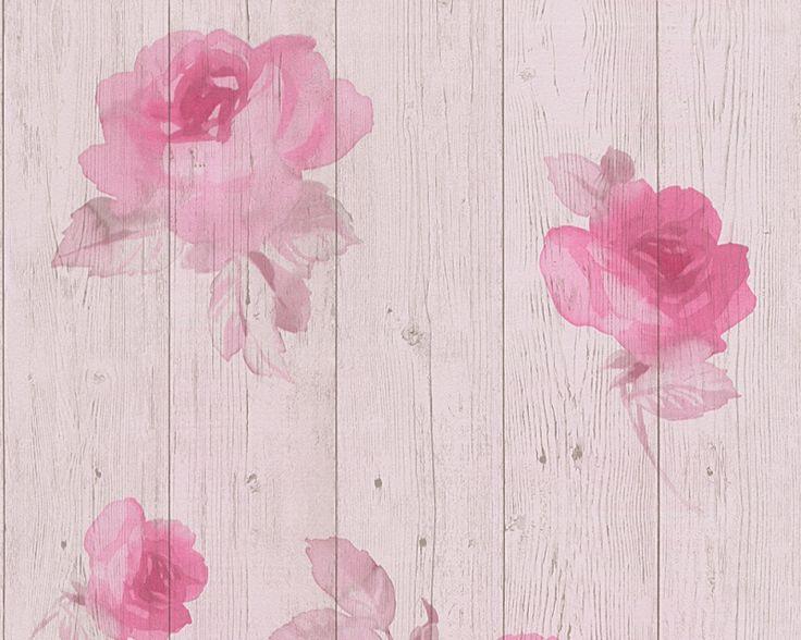 Vliesová tapeta květy, dřevo, krémová, růžová 96112-1 / Tapety na zeď 961121 New England 2 AS (0,53 x 10,05 m) A.S.Création