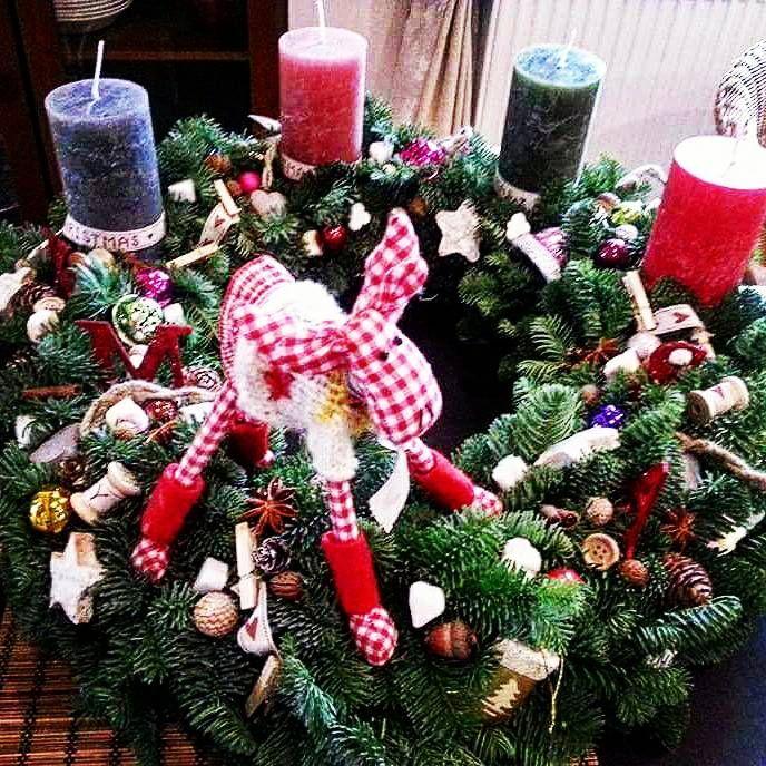 Rénszarvasos adventi Wreaths