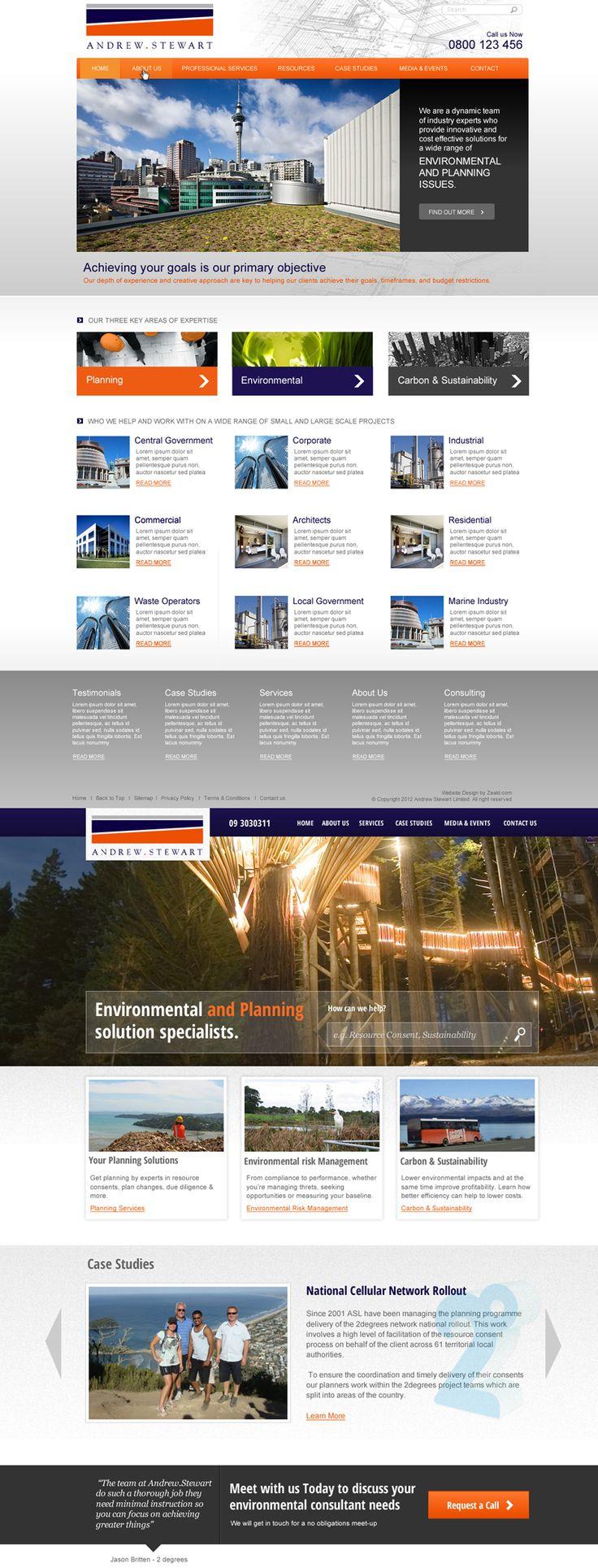 Andrew Steward website redesign
