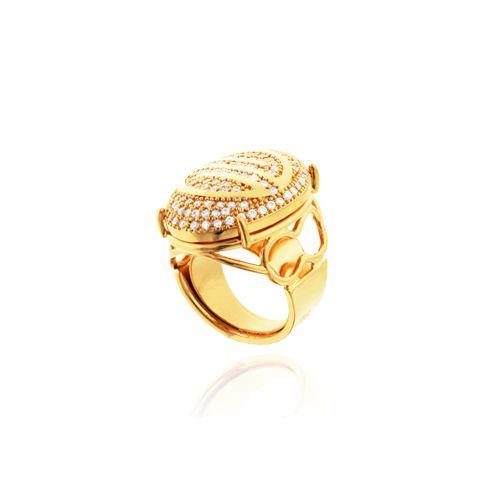 Anel Constelação -  folheado em ouro, prata, rose ou prata negra Peça toda cravejada em zircônia de 1,5 mm Peso: 20 grs Numeração: 14 a 24 Ref: C083 Link: www.gsstore.com.br