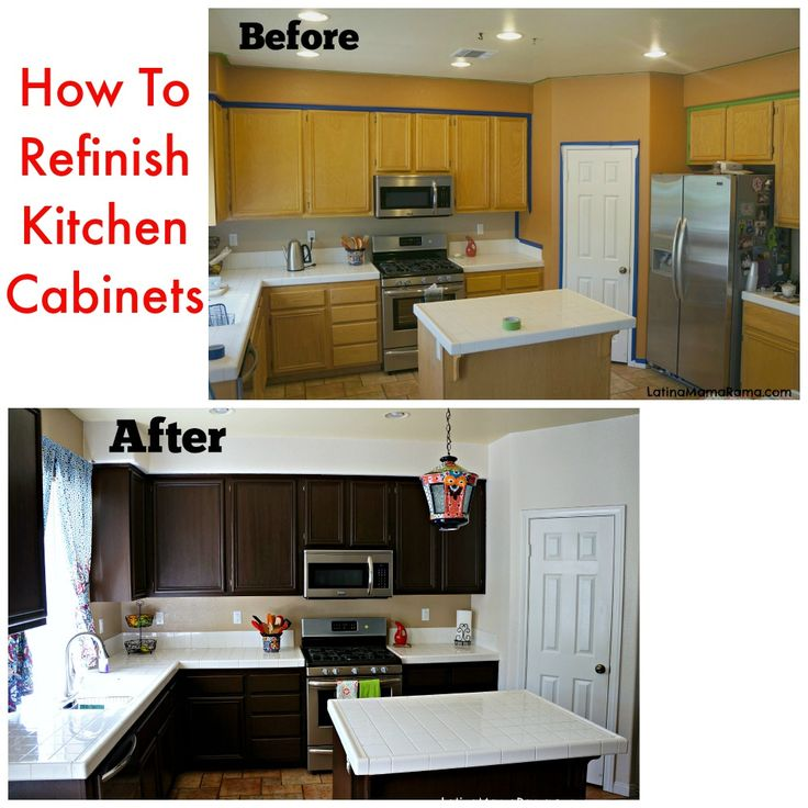 Diy Refacing Kitchen Cabinets Ideas: How To Refinish Your Kitchen Cabinets