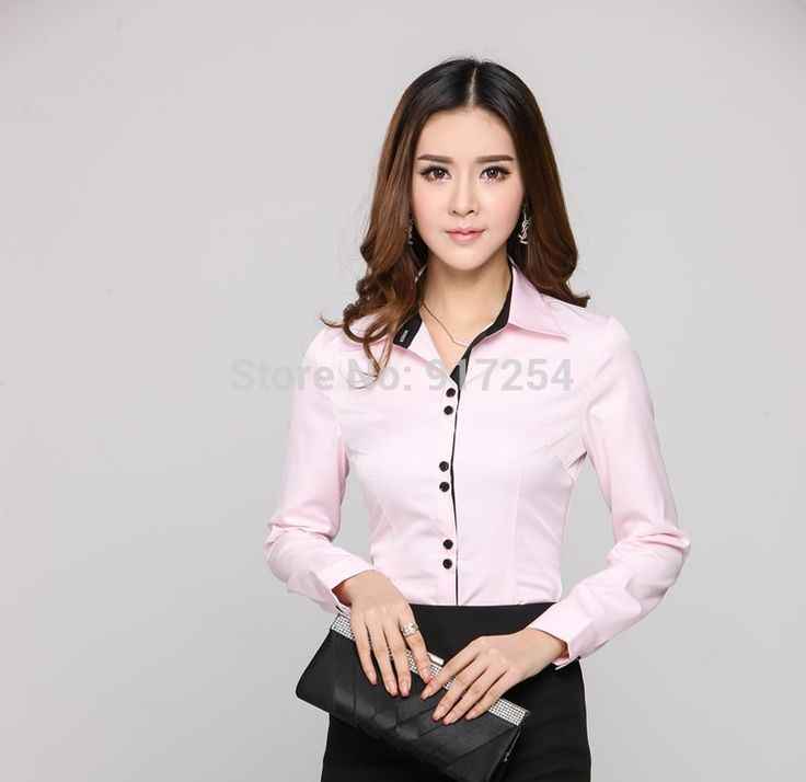 Aliexpress.com: Comprar Nueva novedad rosa señora de la oficina 2015 moda primavera otoño blusas carrera camisetas Tops ropa para los negocios mujeres más del tamaño XXXL de camisa de la sublimación fiable proveedores en Fashion beauty women's store