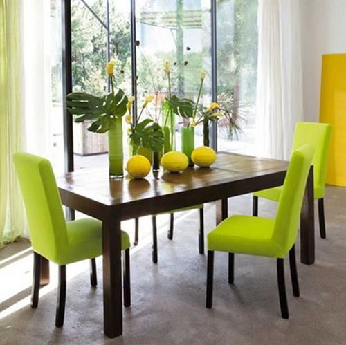 Spring is here...add a touch of Summer Lime to your dining room table with splashes of tropical and lemons.