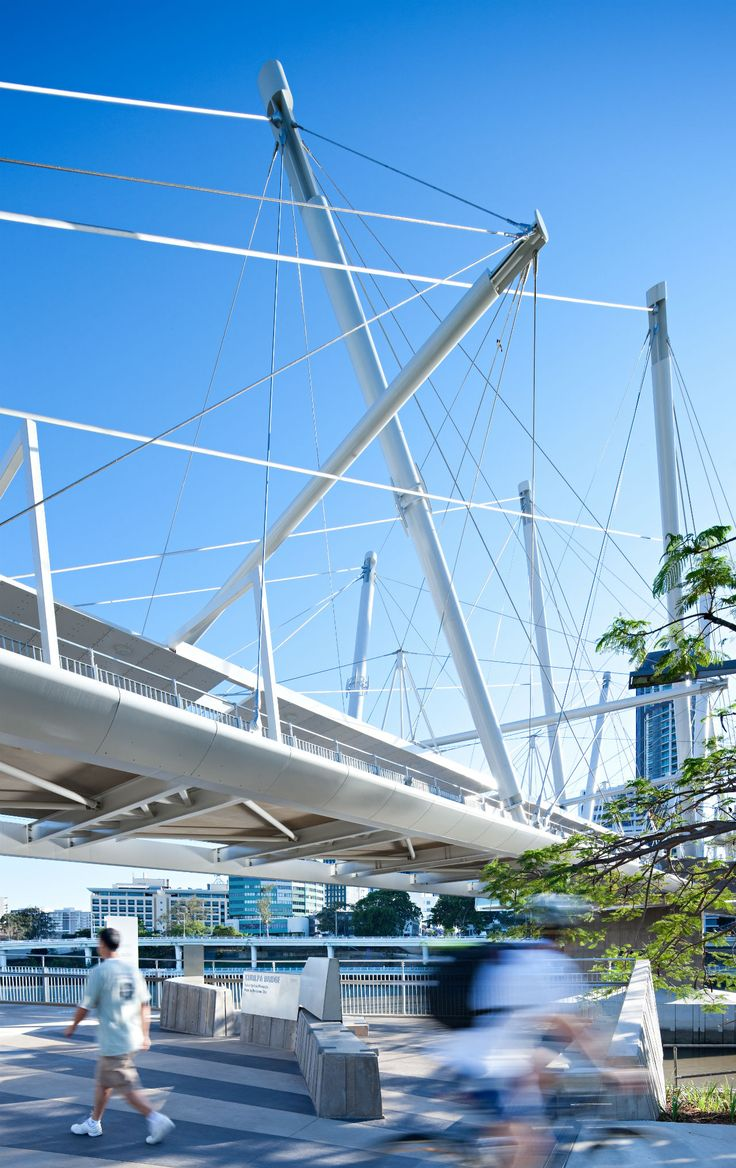 Kurilpa Bridge, Tank Street, Brisbane, Australia - Cox Rayner Architects with Arup #bridge