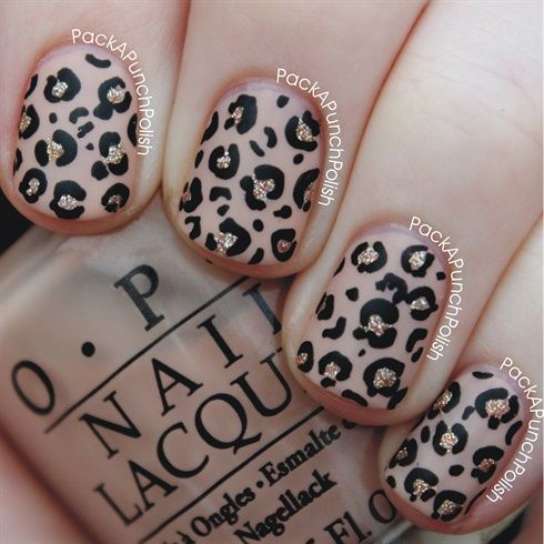 Nude, Glitter, Leopard Print - Nail Art Gallery by NAILS Magazine
