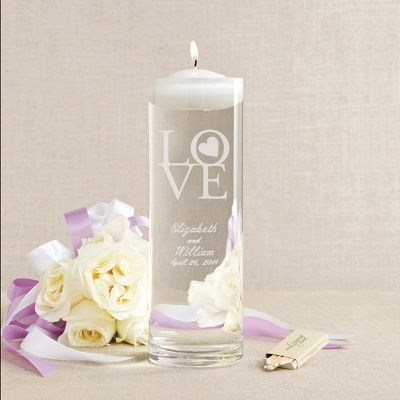 Exclusively Weddings | Circle of Love Floating Unity Candle and Vase