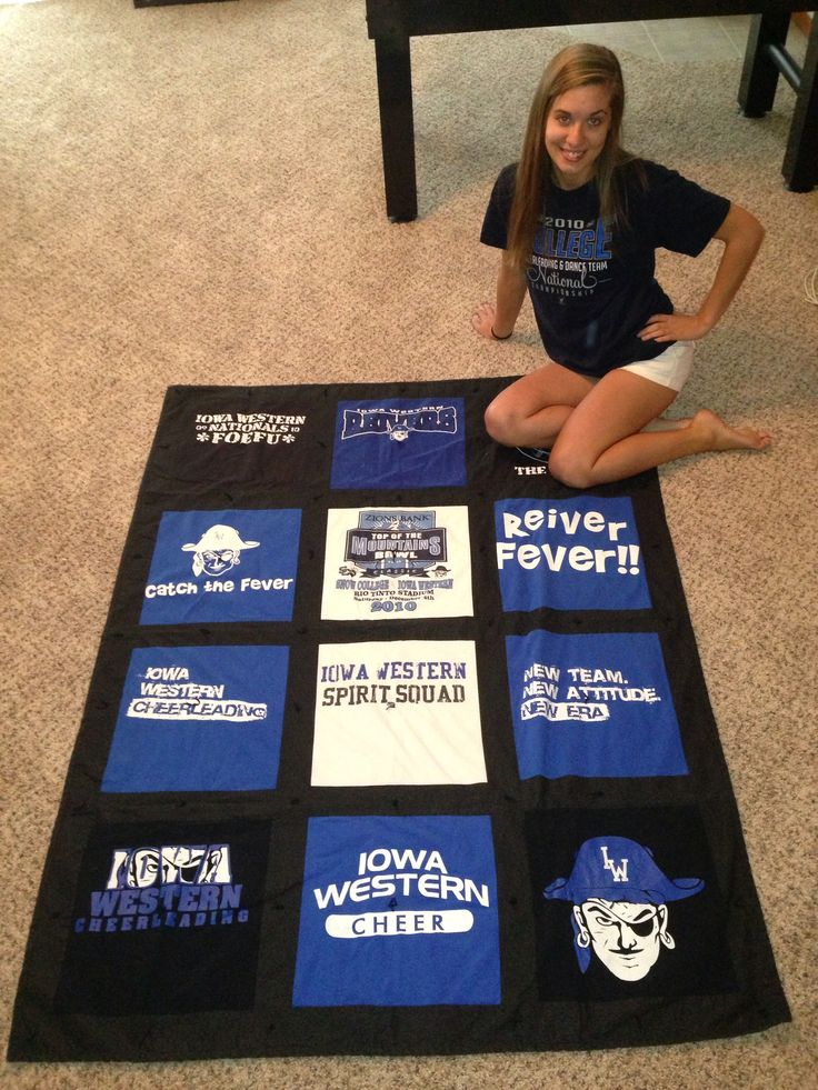 Tshirt quilt i want one of all my high school and cheer for College dance team shirts