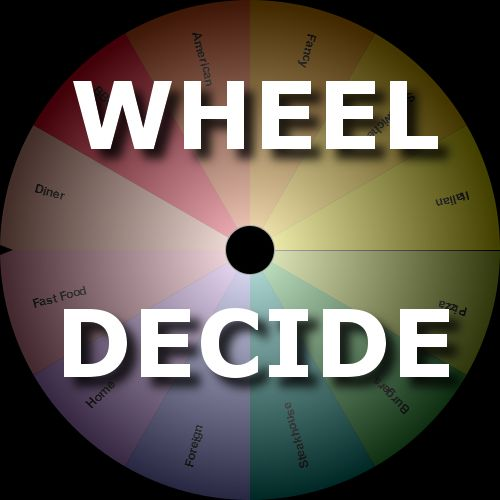 Wheel Decide is a tool that can be used when you are split between a few choices and want to spin a wheel to decide which option to choose. This can be used for deciding where to go to lunch, what movie to watch, what to do for fun, etc…