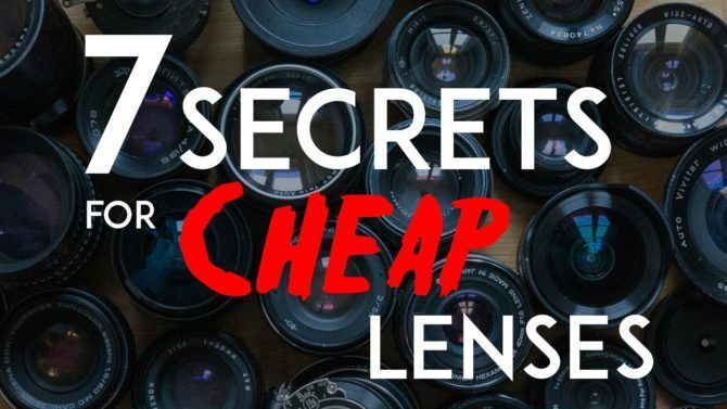 Seven secrets to buying cheap lenses online
