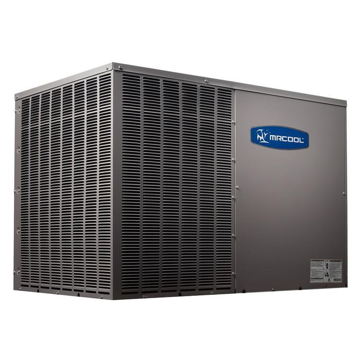DIY 2 Ton 24,000 BTU 14.5 Seer R-410A Horizontal Package Air Conditioner and Heat Pump, Gray