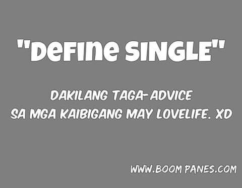Quotes about being single tagalog