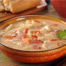 Conch Soup (chowder).  We tried this in Nassau, Bahama.  It was so good.