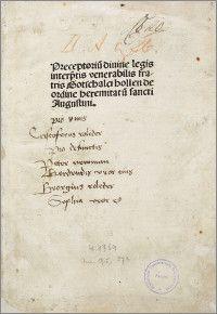Praeceptorium divinae legis