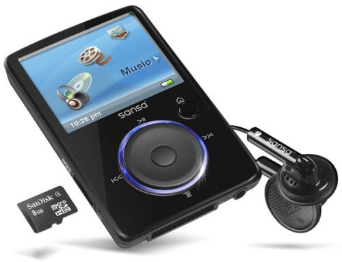 sansa mp3 player - I'm not a fan of Apple/IPODS :P