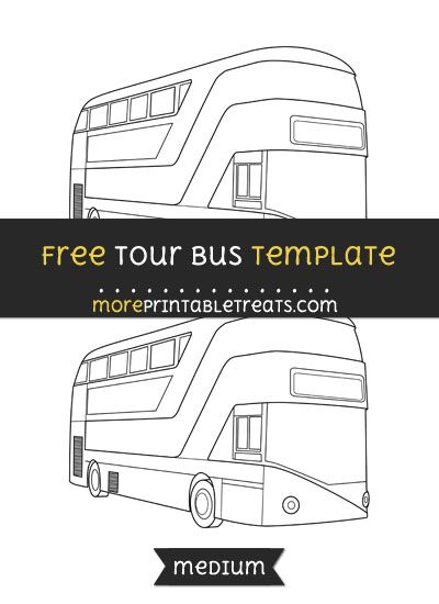 Free Tour Bus Template Medium Shapes And Templates Printables