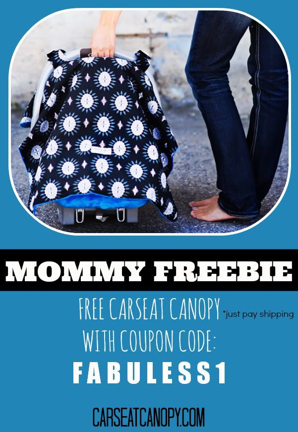 I can't believe this is FREE!  Perfect for baby showers... it's a FREE car seat canopy to keep your baby covered and mommy stylish. Coupon code is FABULESS1 www.FabulesslyFrugal.com