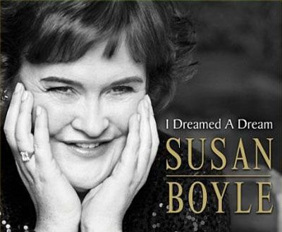 Susan Boyle inspires me because she dosen't let peoples petty first judgements keep her from showing the world what amazing talent she has! And seriously, look at that sweet smile, what's not to love!