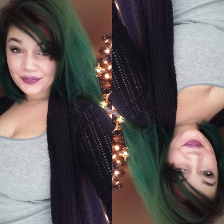 manic panic enchanted forest. bleached my dark hair one time.