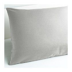 IKEA - SÖMNIG, Pillowcase, Queen, , The lyocell/cotton blend absorbs and draws moisture away from your body and keeps you dry all night long.Extra soft and durable quality since the bedlinen is densely woven from fine yarn.