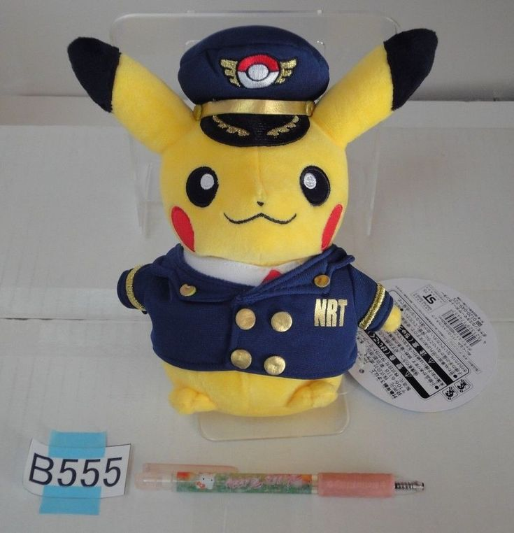 Pokemon store Narita Airport Pilot Pikachu Plush Doll.with the bonus item #Pokemon
