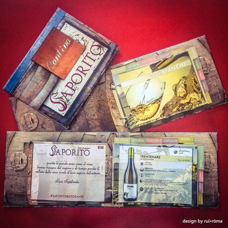 """""""Saporito - fish & pizza"""" - Mariglianella Carta dei vini - design by ruï•rōma ...non fatti proporre sempre le stesse cose, scegli il top, scegli ruï•rōma! #cartadeivini #winelist #menu #restaurant #ristorante #SenzaGlutine #glutenfree #branding #print #graphicdesign #logo #graphic #design #brand #style #identity #Stampa #grafica #wine #advertising #pubblicità #saporito #Italy #Naples #Mariglianella #Brusciano #ruiroma"""