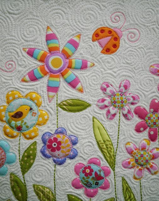 beautiful machine applique and quilting