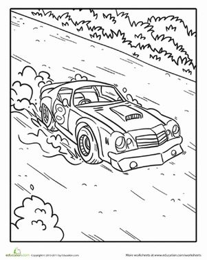 Street Racing Car Drawings Coloring Coloring Pages