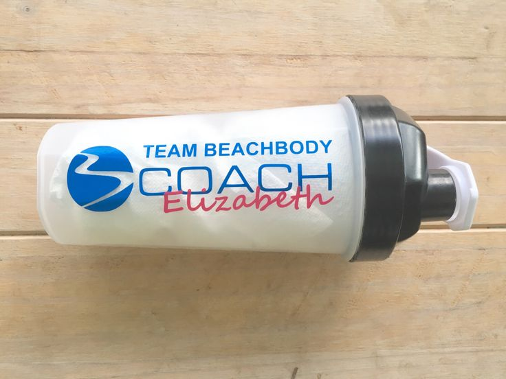 Personalized Beachbody Coach Shakeology Shaker Cup Decal