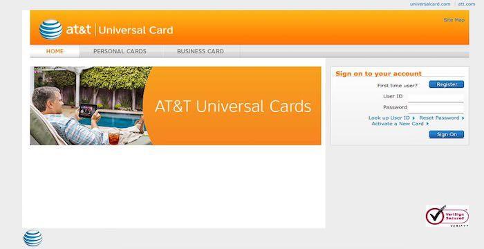 at7t universal card login