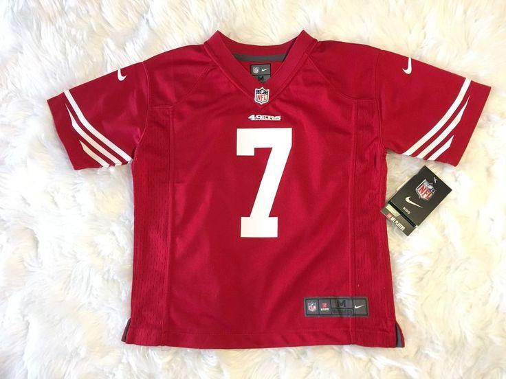 Red Nike Colin Kaepernick NFL San Francisco 49er's football Pro Jersey Kids MED #Nike #SanFrancisco49ers