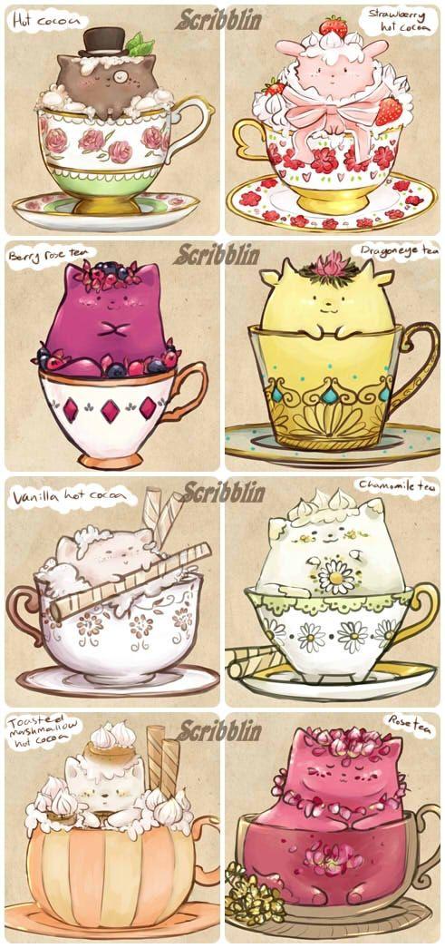 -Custom teacats- by scribblin on DeviantArt