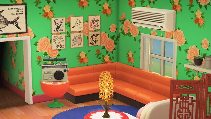 Animal Crossing: New Horizons living room in 2020 | Decor ... on Animal Crossing Living Room Ideas New Horizons  id=66010