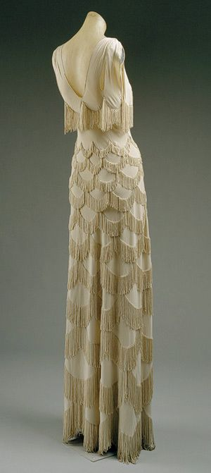 Vionnet Dress - SS 1938 - by Madeleine Vionnet (French, 1876-1975) - Rayon - @~ Mlle.  This is gorgeous!  Maybe even for a wedding dress