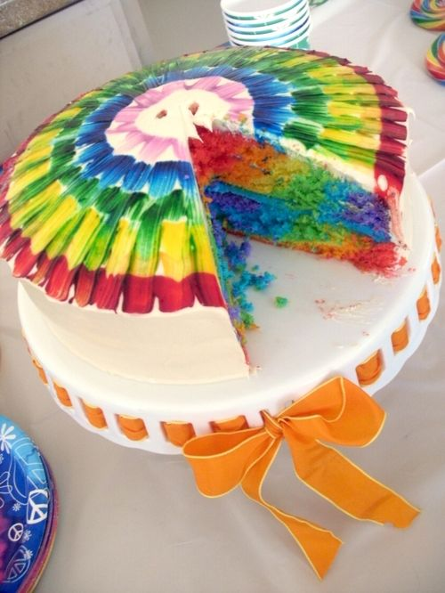 tie dye party: Birthday Parties, Ties Dyes Parties, Rainbows Cakes, Parties Ideas, Tie Dye Cakes, Parties Cakes, Tye Dye, Birthday Cakes, Ties Dyes Cakes