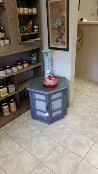 Three Shades Of Gray Nightstand. Painted With Dixie Belle Chalk Mineral  Paint Color Of Hurricane