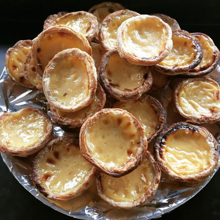 Custard tarts in the studio canteen!